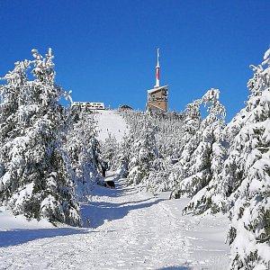 Petra Kosarkova na vrcholu Lysá hora (8.2.2020 10:38)