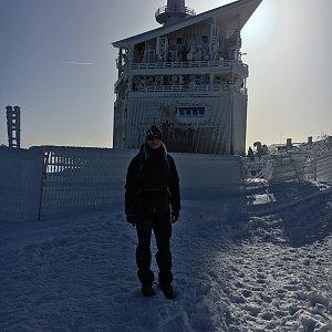 Karin Satoriová na vrcholu Lysá hora (8.2.2020 10:20)