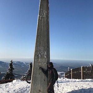 Szegidewiczová Alexandra na vrcholu Lysá hora (8.2.2020 14:10)