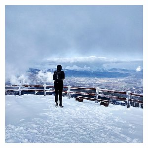 Dobros na vrcholu Lysá hora (15.2.2020 9:30)