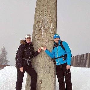 Vítězslav Vrána na vrcholu Lysá hora (15.2.2020 11:17)