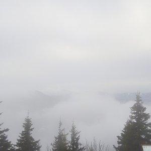 Gabriela Schellnerová na vrcholu Lysá hora (6.1.2018 12:45)