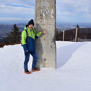 David Dudzik na vrcholu Lysá hora (16.2.2020 11:51)