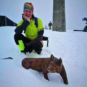 Petra Kosarkova na vrcholu Lysá hora (21.2.2020 16:58)