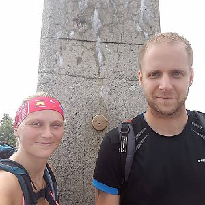 Jan Juchelka na vrcholu Lysá hora (3.6.2018 16:00)