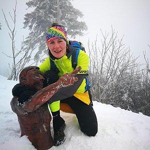Petra Kosarkova na vrcholu Lysá hora (6.3.2020 18:30)
