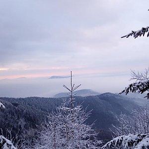 Gabriela Schellnerová na vrcholu Lysá hora (14.1.2018 13:25)
