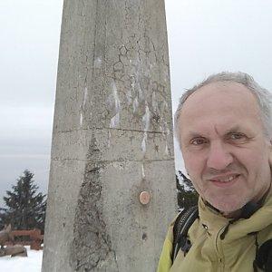 Joch a Dingo na vrcholu Lysá hora (18.1.2020 15:17)