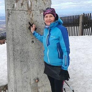 MUDr.Svatopluk Kunčar na vrcholu Lysá hora (12.3.2020 11:35)