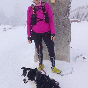Gabriela Schellnerová na vrcholu Lysá hora (17.1.2018 13:51)