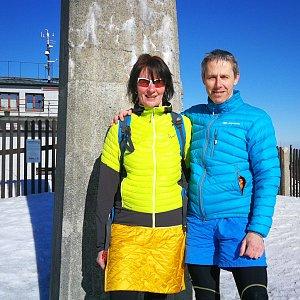 Petra Kosarkova na vrcholu Lysá hora (15.3.2020 14:32)