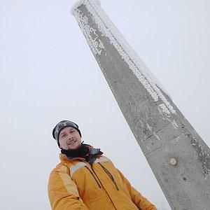 matheo22 na vrcholu Lysá hora (10.2.2018 18:50)