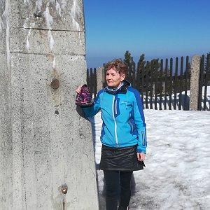 MUDr.Svatopluk Kunčar na vrcholu Lysá hora (17.3.2020 11:50)