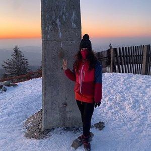 Pavlaja na vrcholu Lysá hora (24.3.2020 18:18)