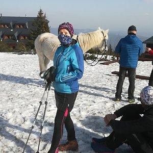 MUDr.Svatopluk Kunčar na vrcholu Lysá hora (27.3.2020 15:20)