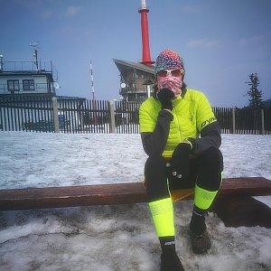 Petra Kosarkova na vrcholu Lysá hora (29.3.2020 14:29)