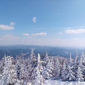 Milan Meravy na vrcholu Lysá hora (1.4.2020 12:44)