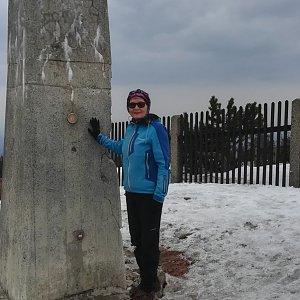 MUDr.Svatopluk Kunčar na vrcholu Lysá hora (3.4.2020 12:55)