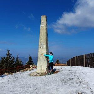 Vendula Martiníková na vrcholu Lysá hora (4.4.2020 10:33)