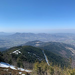 Pavlaja na vrcholu Lysá hora (5.4.2020 13:43)