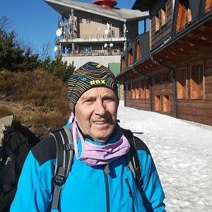 MUDr.Svatopluk Kunčar na vrcholu Lysá hora (5.4.2020 16:19)