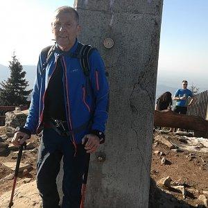 MUDr.Svatopluk Kunčar na vrcholu Lysá hora (8.4.2020 16:52)