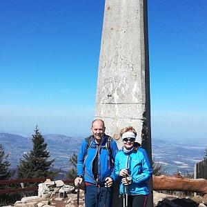 MUDr.Svatopluk Kunčar na vrcholu Lysá hora (11.4.2020 11:35)
