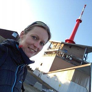 Michaela Karásková na vrcholu Lysá hora (12.4.2020 18:52)