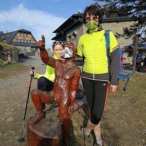 Petra Kosarkova na vrcholu Lysá hora (17.4.2020 17:24)