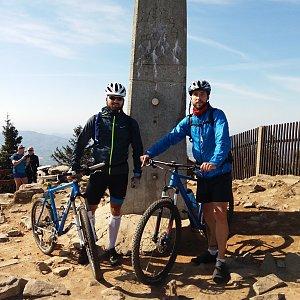 Filip Šimon na vrcholu Lysá hora (23.4.2020 15:45)