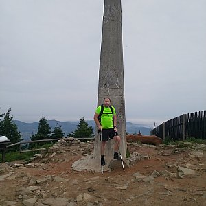 Vladimír na vrcholu Lysá hora (10.6.2018 7:30)