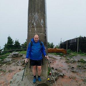 Vladimír na vrcholu Lysá hora (3.6.2018 8:25)