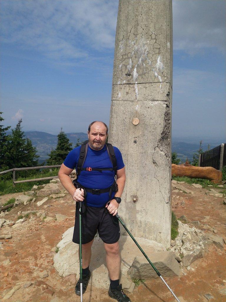 Vladimír na vrcholu Lysá hora (10.6.2018 10:30)