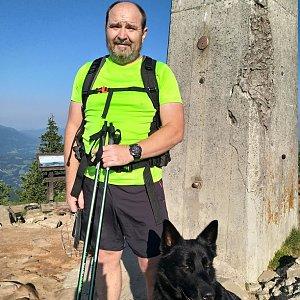 Vladimír na vrcholu Lysá hora (27.5.2018 7:40)
