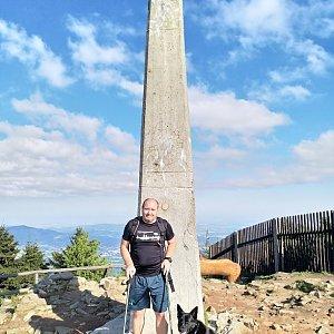 Vladimír na vrcholu Lysá hora (13.5.2018 7:40)