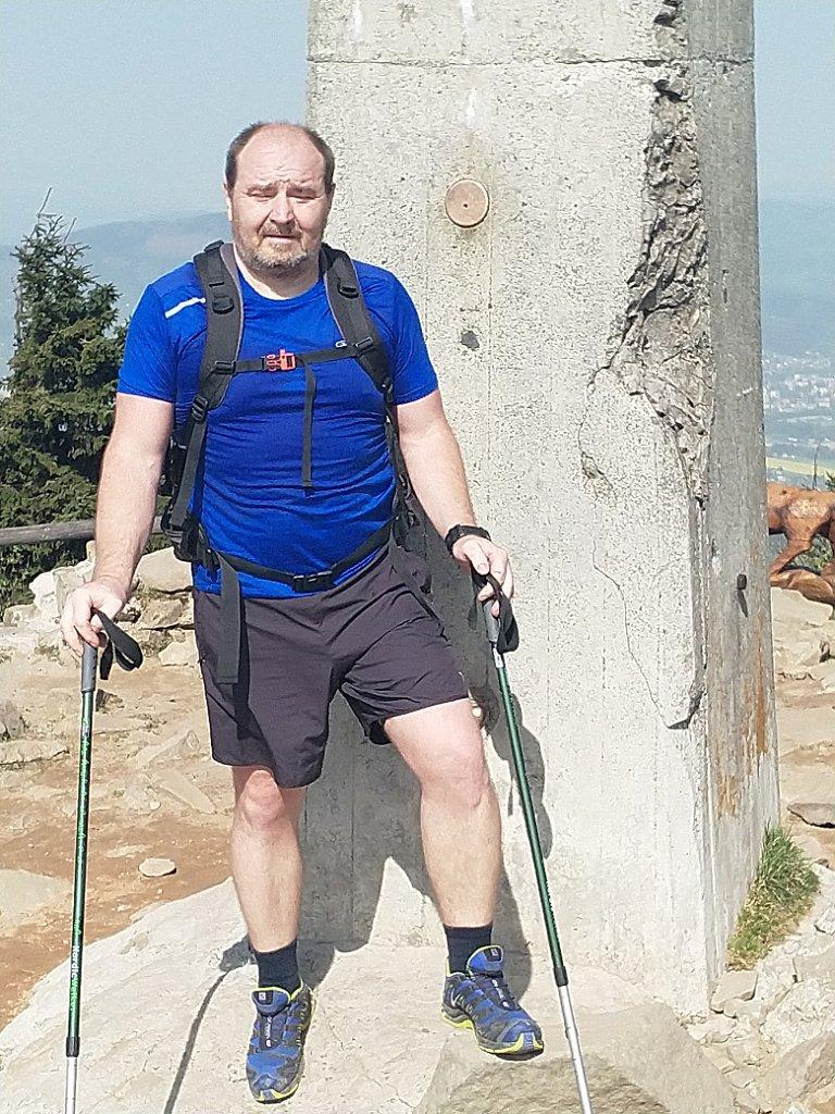 Vladimír na vrcholu Lysá hora (29.4.2018 7:50)