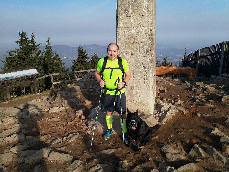 Vladimír na vrcholu Lysá hora (22.4.2018 8:05)