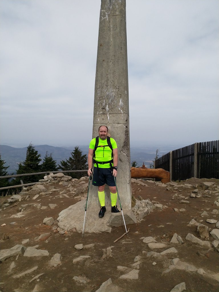 Vladimír na vrcholu Lysá hora (15.4.2018 8:46)