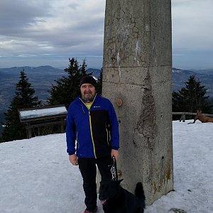 Vladimír na vrcholu Lysá hora (11.3.2018 7:34)
