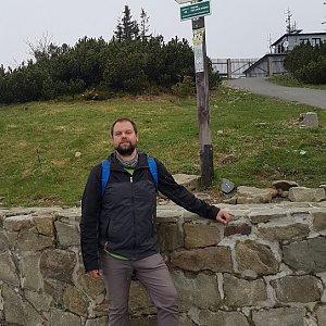 Petr Zajac na vrcholu Lysá hora (5.5.2020 17:00)