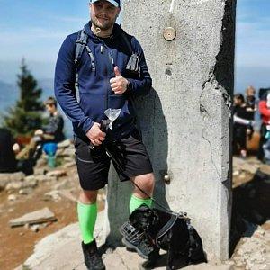 Tomáš Mucha na vrcholu Lysá hora (8.5.2020 12:10)