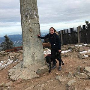 Kristýna na vrcholu Lysá hora (13.5.2020 7:13)