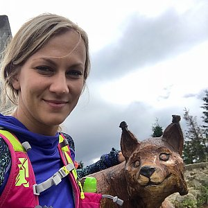 Barbora Dreslerová na vrcholu Lysá hora (1.7.2018 14:33)