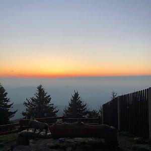 Ivča na vrcholu Lysá hora (14.5.2020 20:20)