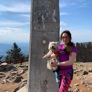 Pavlaja na vrcholu Lysá hora (19.5.2020 16:50)