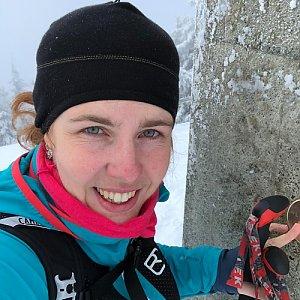 Ivulinka Bažinková na vrcholu Lysá hora (30.12.2017 8:00)