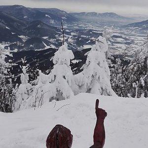 Denisa na vrcholu Lysá hora (17.2.2018 13:54)
