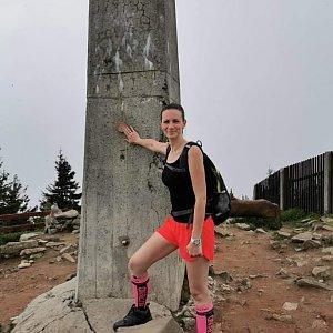 Aneta Gabzdylová na vrcholu Lysá hora (12.6.2020 10:00)