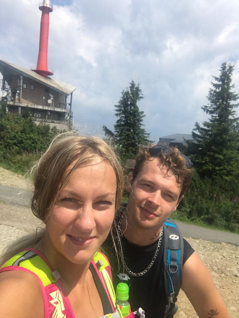 Barbora Dreslerová na vrcholu Lysá hora (23.7.2018 13:25)