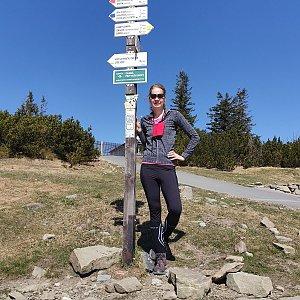 Hana Lančová na vrcholu Lysá hora (22.4.2020 11:35)